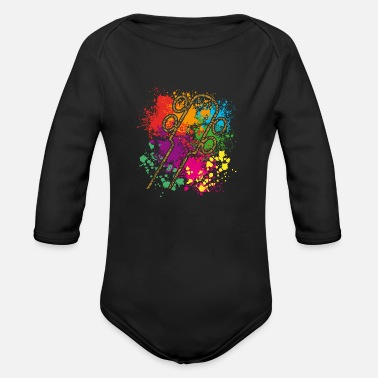 Bass Bass guitar - Organic Long-Sleeved Baby Bodysuit