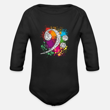 Bass Bass - Bass Clef - Bass Key - Bass Clef - Organic Long-Sleeved Baby Bodysuit
