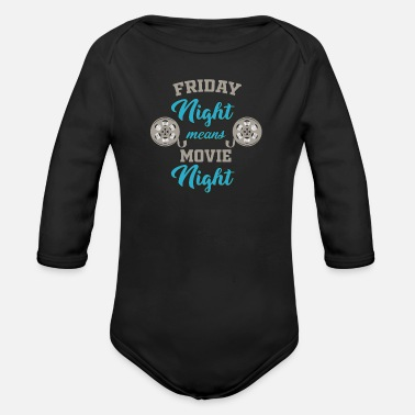 Movie Movie Chill Movie - Organic Long-Sleeved Baby Bodysuit