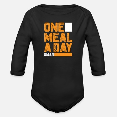 Meal Meal a day - Organic Long-Sleeved Baby Bodysuit