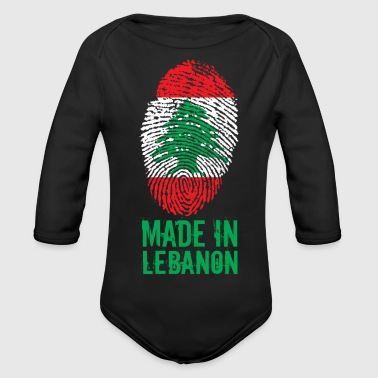 Liban Fabriqué au Liban / Made in Lebanon اللبنانية - Body bébé bio manches longues