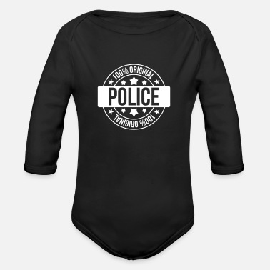 Police Police - Body bébé bio manches longues