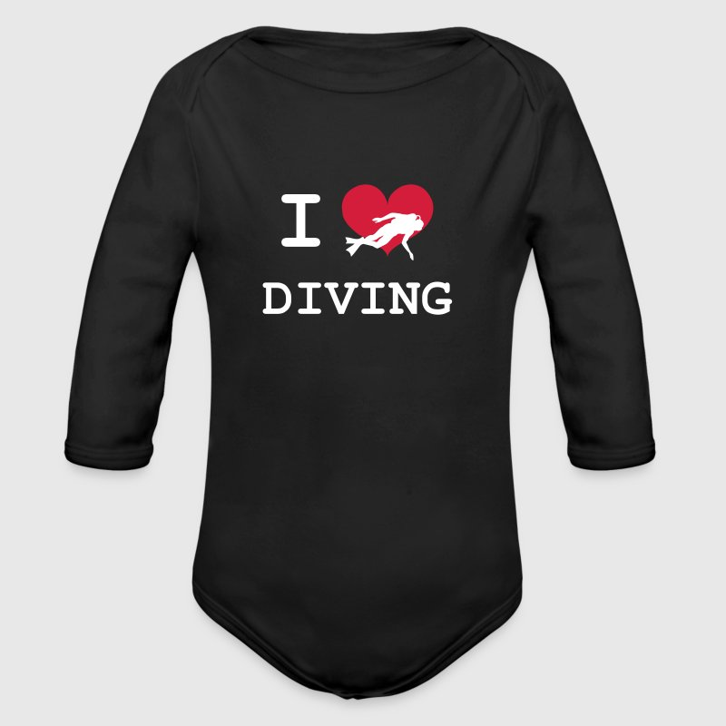I Love Diving - Organic Longsleeve Baby Bodysuit