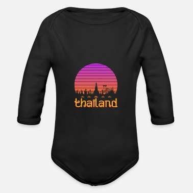 Thailand Thailand - Organic Long-Sleeved Baby Bodysuit