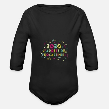 Mtv Trendy design from the 80's and 90's - Organic Long-Sleeved Baby Bodysuit