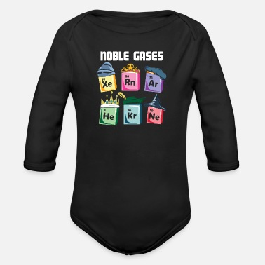 Periodic Table Chemistry Periodic Table Noble Gases Chemist Gift - Organic Long-Sleeved Baby Bodysuit