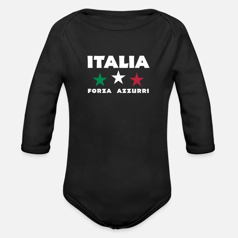 Fussball Italia Weltmeisterschaft T Shirt Baby Bio Langarmbody