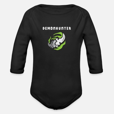 420 Demonhunter - WoW - Organic Long-Sleeved Baby Bodysuit