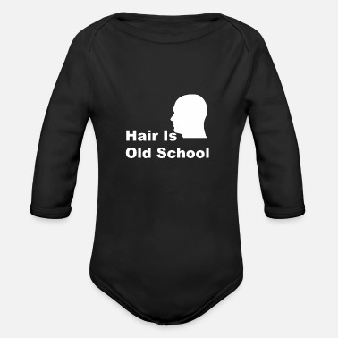 Hair Is Old School - Baby Bio Langarmbody