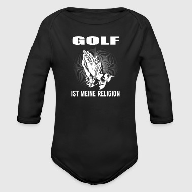 Golf - meine Religion - Baby Bio-Langarm-Body