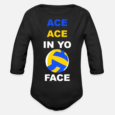 Funny Volleyball Funny volleyball saying - Organic Long-Sleeved Baby Bodysuit