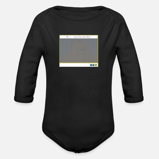 Sofa Baby Clothes - Hi... Can You See Me ? by CL8 (I am... a Lion) - Organic Long-Sleeved Baby Bodysuit black