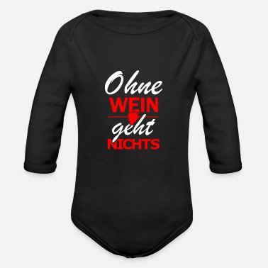 Wine Lover wine lovers - Organic Long-Sleeved Baby Bodysuit