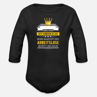 Unemployed Unemployed Majesty of the Unemployed - Organic Long-Sleeved Baby Bodysuit