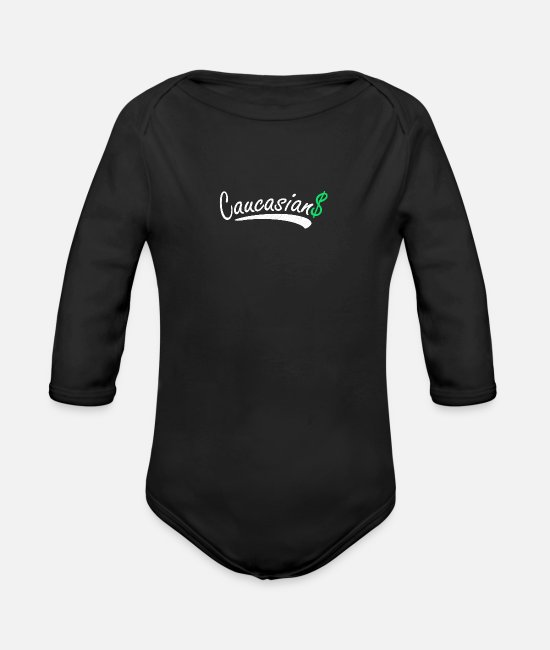 Heart Baby Bodysuits - Caucasians - Organic Long-Sleeved Baby Bodysuit black