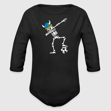 Sweden dab dabbing skeleton soccer football - Body bébé bio manches longues
