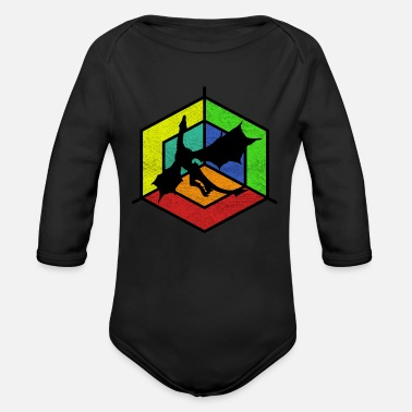 Mythical mythical creatures - Organic Long-Sleeved Baby Bodysuit