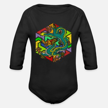 Mythology Mythology Dragon - Organic Longsleeve Baby Bodysuit