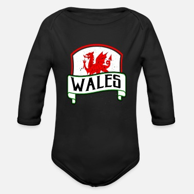 Celtic Dragon Flag Wales Celts origin gift - Organic Long-Sleeved Baby Bodysuit