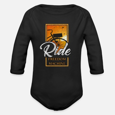 Cycling Cycling cycling - Organic Long-Sleeved Baby Bodysuit