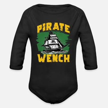 Pirate Flag Pirate flag pirate ship - Organic Long-Sleeved Baby Bodysuit