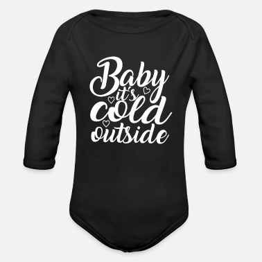 Christmassy Winter Christmas Christmassy - Organic Long-Sleeved Baby Bodysuit
