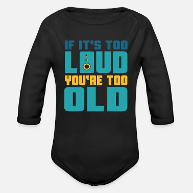 Clubbers Loudspeaker Techno House Music Clubber - Organic Long-Sleeved Baby Bodysuit