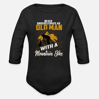 Mountain Biker Mountain bikers - Organic Long-Sleeved Baby Bodysuit