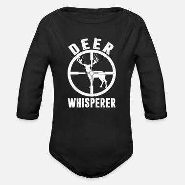 Deer Hunter Deer Hunter hunting hunting hunter deer hunting - Organic Long-Sleeved Baby Bodysuit