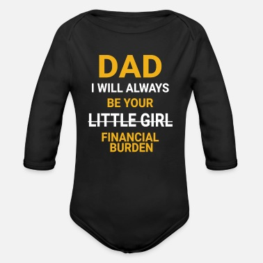 Girl Dad Daddies Girl Father and daughter daddy's girl - Organic Long-Sleeved Baby Bodysuit