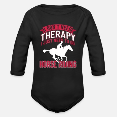 Horse Sayings Horse Sayings - Organic Long-Sleeved Baby Bodysuit