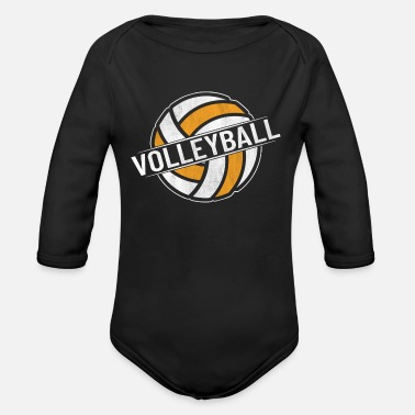 Volleyball Team Volleyball volleyball volleyball team - Organic Long-Sleeved Baby Bodysuit
