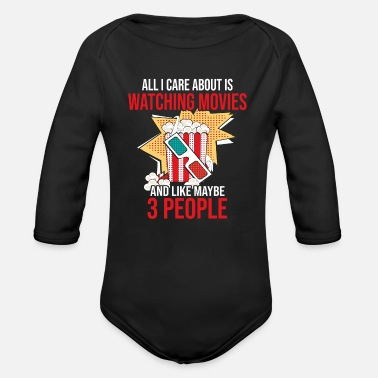 Movie Movies Shows Cinema Movies 3D Glasses Popcorn - Organic Long-Sleeved Baby Bodysuit