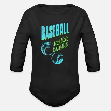 Baseball Players Baseball player baseball baseball player - Organic Long-Sleeved Baby Bodysuit