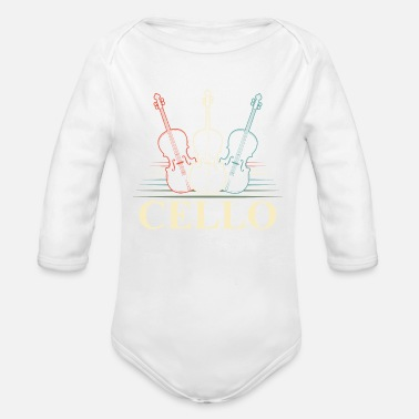 Orchestra Cello Orchestra Musician Orchestra - Organic Long-Sleeved Baby Bodysuit