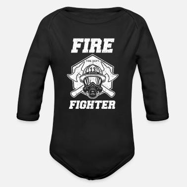 f757a8b53 Mujer bombero bombero bombero - Body de manga larga bebé
