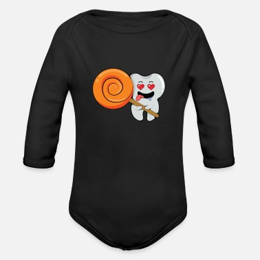 Milk Tooth Milk tooth tooth incisor dentist child gift - Organic Long-Sleeved Baby Bodysuit