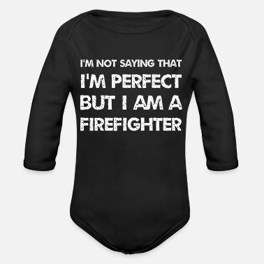 Youth Perfect firefighter rescuer 112 fire brigade brigade - Organic Long-Sleeved Baby Bodysuit