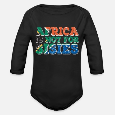 Africa Africa Africa - Organic Long-Sleeved Baby Bodysuit
