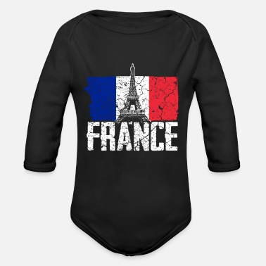 France coat of arms Paris - Organic Long-Sleeved Baby Bodysuit