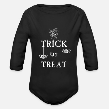 Treat Trick or Treat - trick or treat - Organic Long-Sleeved Baby Bodysuit