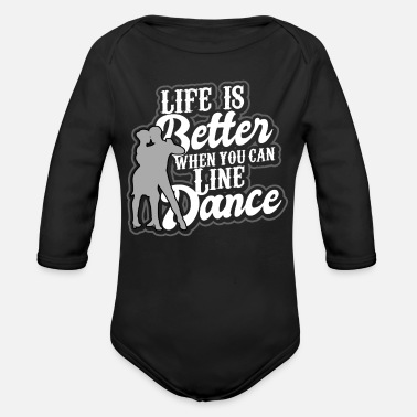 Cowboy Linedance western country music dance sport - Organic Long-Sleeved Baby Bodysuit