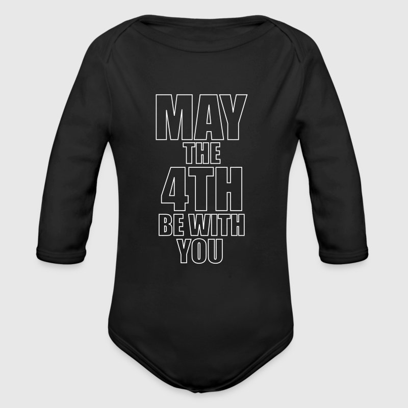 May the 4th be with you - Organic Longsleeve Baby Bodysuit