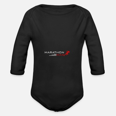 Man Marathon man - man - Organic Long-Sleeved Baby Bodysuit