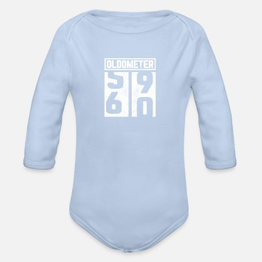 60th 60th birthday 60th 60th gift oldometer - Organic Long-Sleeved Baby Bodysuit