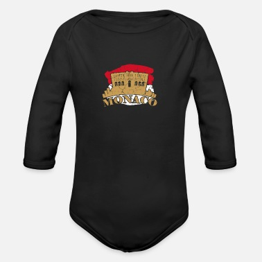 Monarchy Monaco French Côte d'Azur gift monarchy - Organic Long-Sleeved Baby Bodysuit