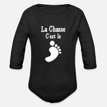Bavoir Rose Bébé Attention Fille de chasseur cadeau de naissance humour chasse