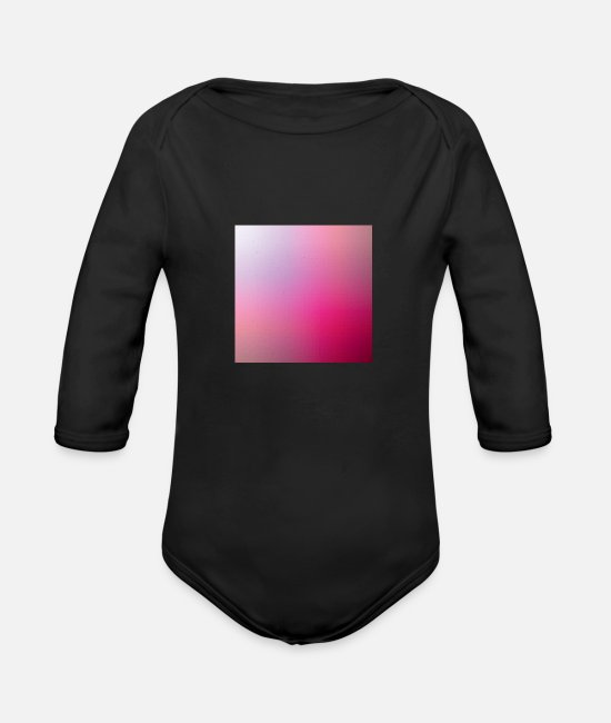 Trippy Baby Clothes - Polygon pattern - Organic Long-Sleeved Baby Bodysuit black