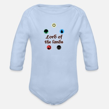 Magic Lord of the Lands MTG - Organic Long-Sleeved Baby Bodysuit