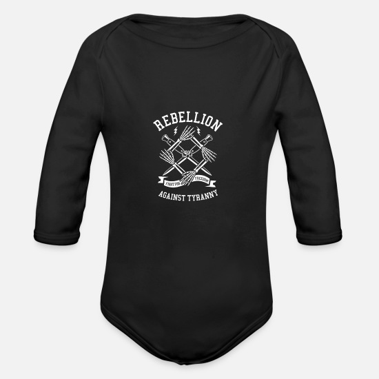 Rebellion Baby Clothes - rebellion - Organic Long-Sleeved Baby Bodysuit black
